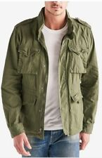 Lucky BRAND Mens Waxed M-65 Military Field Jacket Sz L Olive Green