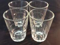 ( 4 pc ) Shot Glasses,Glass Barware,Shots, Whiskey,Tequila Vodka Aguardiente Fun