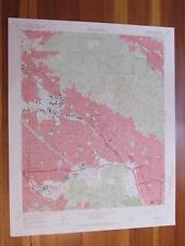 Burbank California 1967 Original Vintage USGS Topo Map