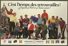 1990's Montreal Canadiens Alumni Christmas Card, Lafleur, Robinson, etc...