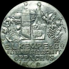 BRIEFMARKENKAPSELGELD: 10 Pfennig, MUG rot. E.L. KEMPE & CO - OPPACH / SACHSEN.
