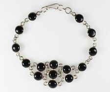 Black Onyx Bracelet Crafted From Sterling Silver 925