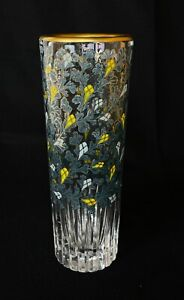Japanese Antique Hana-Ire Kabin Glass Flower Vase  (b694)
