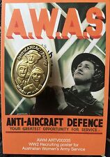 Women at War-  WW2 Spiri of ANZAC Series Lapel Badge * ANZAC Day