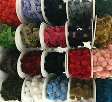 Luxury Velvet Feel POM POM Trim - 15mm Balls LOTS OF COLOURS by the metre