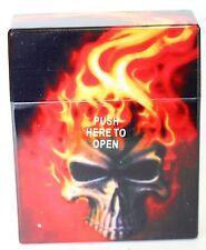 Cigarette Tobacco Case CELTIC Skull PLASTIC AUTO OPEN Cigarette Storage Box 80mm