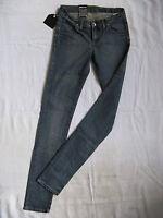 DR.DENIM Damen Blue Jeans Stretch Röhre W25/L34 extra low waist slim fit tube