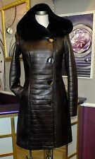 Luxus Designer Damen echter Lammfellmantel  mit  Kapuze Gr.32/34, Gr.38 NEU