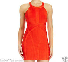 NWT bebe red side cutout mesh bodycon bandage top dress sexy cocktail XL X L 12