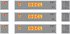 Athearn HO Scale 40' Smooth-Side Intermodal Containers OOCL/Yellow/Red (3-Pack)
