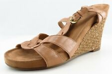 Aerosoles Gladiator Brown Leather Women Shoes Size 9 Medium (B, M)