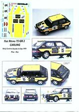 Decal - Fiat  RITMO Gr.2 - CARLING - Rally Boucles de Spa 79 - Condroz 79