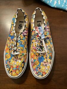 Simpsons Vans Authentic Homer Bart Marge