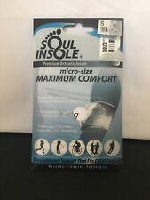 SOUL INSOLE micro-size MAXIMUM COMFORT Premium Orthotic Insole Size Small NEW