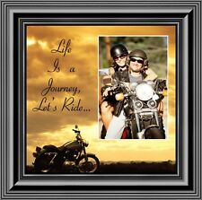 Motorcycle, Harley Davidson Picture Frame, Lets Ride Sky 10X10  9750