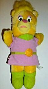Disney Fisher Price Sunni Gummi Bear Doll Plush Toy Stuffed Animal 1985