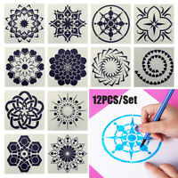 Craft Stamp Painting template Layering Stencils Scrapbooking Mandala Auxiliary
