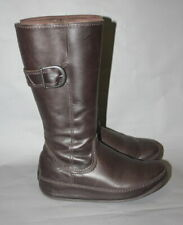 Fitflop Brown Leather Knee High Boots EU 38 UK 5 VGC