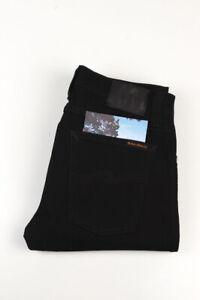 32843 Nudie Jeans Tube Tom Org. Black Schwarz Herren Jeans Größe 28/34