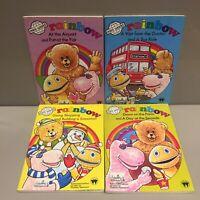 RAINBOW 🌈 Vintage 80s TV Show Set Of 4 Mini World Books GET IT FAST
