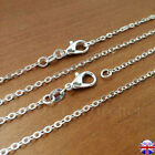 Silver Plated Plain 18-24 Necklace Chains For Jewellery Making Chain Lobster 626