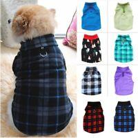 Pet Dog Warm Fleece Harness Vest Shirt Puppy Jumper Sweater Coat Jacket Apparel