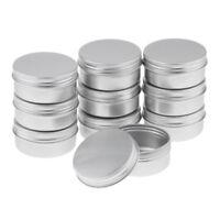 10x 50g Aluminium Empty Cosmetic Pot Cream Jar Tin Container Box Screw Lid