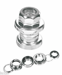"Bicycle Threaded Steel Headset With Bearings Ergotec - S101G -1"" Silver"