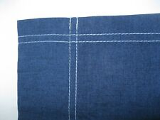 "American Living  valance Mock  Blue  Jean  80"" wide x 16""  EUC!"