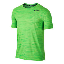 NIKE TOUCH HEATHER T SHIRT NWT BRITE GREEN MEN SIZE LARGE 848888-380 TRAINING