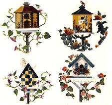 Ceramic Decals Birdhouse Bird House Floral Vine 4 Designs 1.5 inch