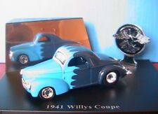 WILLYS COUPE 1941 DARK BLUE WITH BRIGHT BLUE CALLOPS 1/43 UNIVERSAL HOBBIES