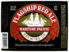Maritime Pacific FLAGSHIP RED ALE beer label WA 12oz