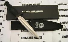 RAZOR BLADES STAINLESS BLADE PIG STICKER DAGGER BOWIE BOAR HUNTING KNIFE 440C