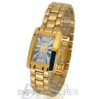 *NEW* LADIES EMPORIO ARMANI CLASSIC GOLD PEARL WATCH - AR0175 - RRP £350