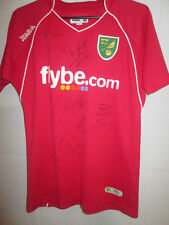 Norwich City Squad Signed 2007-2008 Away Football Shirt with COA /6068