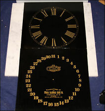 ITHACA CALENDAR CLOCK PAIR OF GOLD & BLACK DIALS FOR FASHION BELGRADE