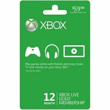 Microsoft 12 Month Xbox Live Gold Membership Subscription  READ description🌍