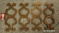 """452D Vtg 60's Set 4 Decor Scroll Trim Pieces from Chair Backs 20"""" Tall Wood Look"""