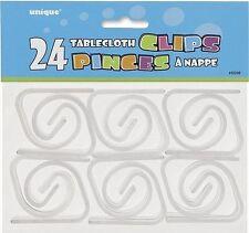 Paquet de 24 nappe table plastique clips maintenir vos Nappe en place