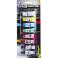 8 X Artista Professionale Acqua Colore Set Arte Pittura 10ml Tubetti Craft Tela