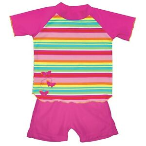 NEW iPlay L (12-18 Mo.) TWO-PIECE SWIMSUIT With Built-In Swim Diaper - Pink