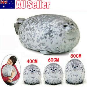 60/80CM Chubby Blob Seal Plush Doll Pillow Stuffed Cartoon Cute Animal Toy Gift