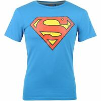 DC Comics Mens Superman T Shirt Crew Neck Tee Top Short Sleeve Distressed Print