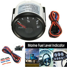 12/24V Universal Vehicles Fuel Level Gauge Marine Yacht Trim Tank Indicator 52mm