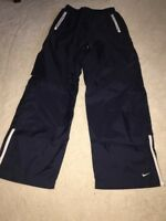 NIKE Dry Fit Cotton Lined Womens ATHLETIC SKI Yoga Warm Up RUNNING PANTS SIZE L