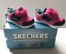 Skechers Toddler Girl's Sneakers Lil Critter Skech-Lite Hot Pink Navy Size 7 M