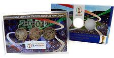 Japan 3 x 500 YEN Gedenkmünzen 2002 Stgl. FIFA World Cup: Fussball Korea & Japan