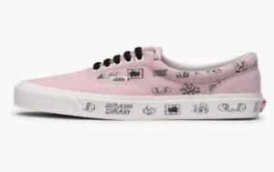 New Vans Vault Brain Dead Era LX Pink Sneakers Mens 7.5 Womens 9 Rare Skateboard
