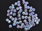 200x Wholesale 4mm Bicone Faceted Crystal Glass Loose Spacer Beads Half Clear AB